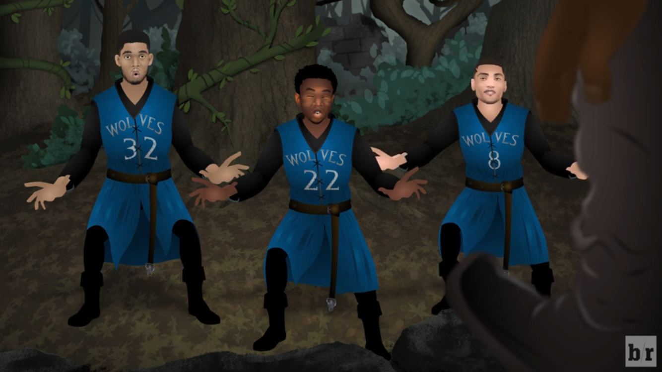 56c72a88807 Wiggins introduces the Wolves. In their best way possible
